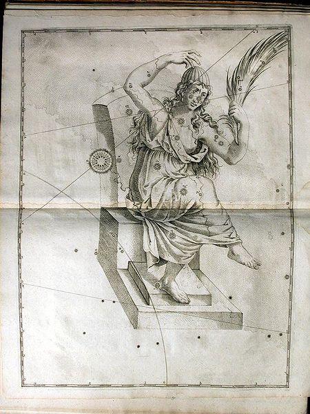 Antigua representación de Casiopea.