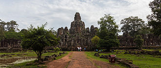 "Bayon - According to Angkor-scholar Maurice Glaize, the Bayon appears ""as but a muddle of stones, a sort of moving chaos assaulting the sky."""