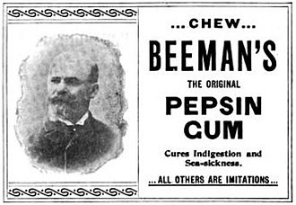 Beemans gum - Beeman's Pepsin Gum - Advertisement - 1897