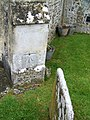 Bench mark, The Church of St Peter and St Paul, Exton - geograph.org.uk - 1339846.jpg