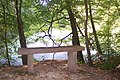 Bench near Colliers Wood Pond - geograph.org.uk - 1513018.jpg