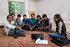 Bengali Wikipedians at Chittagong meetup 2 (08).jpg