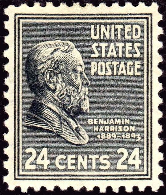 Benjamin Harrison 1938 Issue-24c