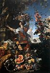 Berentz, Christian - Flowers, Fruit with a Woman Picking Grapes - 1689.jpg
