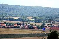Berga (Kyffhäuser), view from the church hill to Rosperwenda.jpg
