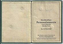 Der Behelfsmäßige Personalausweis, ohne Bundesadler
