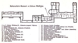 Monbijou Palace - Floor plan of the Hohenzollern Museum, 1904