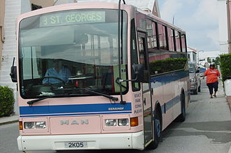 Bermuda Public Transportation Board - One of the pink buses of Bermuda