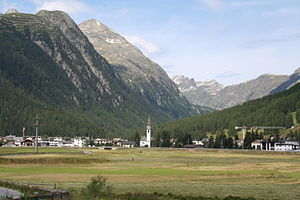 Bever, Switzerland - View of Bever