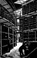 Biblioteksbyggnader, Bokmagasin bredvid läsesalen i British museum, Nordisk familjebok.png