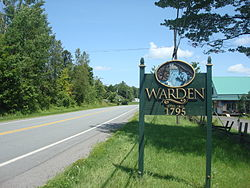 City limit sign in Warden.