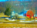 Big Red Barn though the Trees - panoramio.jpg
