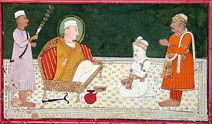 Salim Chishti - Shaikh Salím Chishtí with Mughal Emperor Akbar