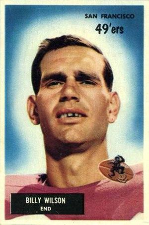 Billy Wilson (American football) - Wilson on a 1955 Bowman football card