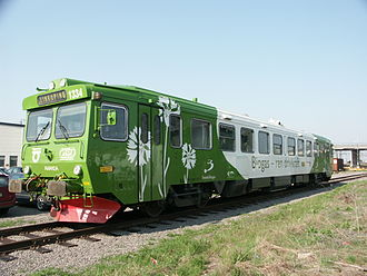 "Biogas - ""Biogaståget Amanda"" (""Amanda the Biogas Train"") train near Linköping station, Sweden"