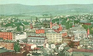 North Adams, Massachusetts - Bird's eye view of North Adams in 1905