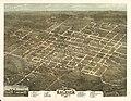 Bird's eye view of the city of Raleigh, North Carolina 1872. LOC 75694901.jpg