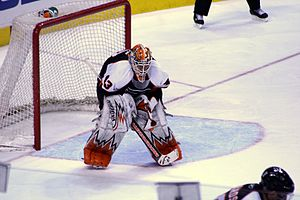 Martin Biron - Biron with the Flyers during the 2008–09 NHL season.