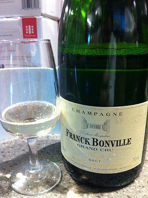 Cru (wine) - Image: Blanc de blanc grand Cru champagne
