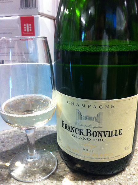 File:Blanc de blanc grand Cru champagne.jpg