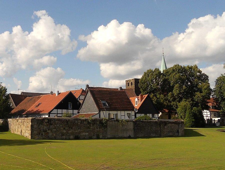 Blick auf das Alte Dorf Westerholt WEB