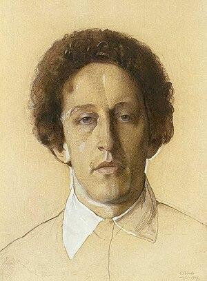 Alexander Blok - Portrait by Konstantin Somov, 1907