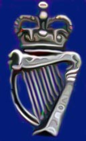 Secular icon - The crowned harp; emblematic of Ireland under British rule