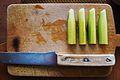 Board, knife and cucumbers.JPG