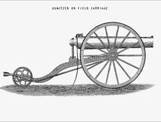 Dahlgren gun - Dahlgren boat howitzer mounted on field carriage