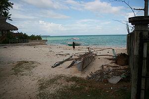 Santa Fe, Cebu - Image: Boat beached in Santa Fe