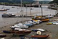 Boats on the mud as the tide falls, Conwy Quay - geograph.org.uk - 1482967.jpg