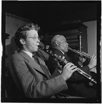 Bob Wilber - Bob Wilber and Sidney Bechet, Jimmy Ryan's (Club), New York, c. January 1947; image: William P. Gottlieb