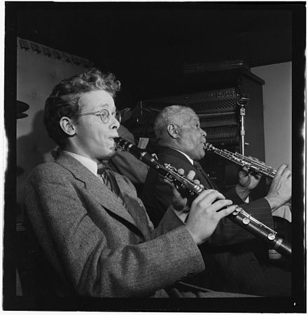 Bob Wilber and Sidney Bechet, Jimmy Ryan's (Club), New York, c. January 1947; image: William P. Gottlieb Bob Wilber, Sidney Bechet (Gottlieb 09161).jpg