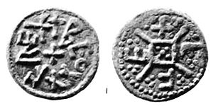 Beonna of East Anglia - A coin struck by the moneyer Efe, one of the only two coins of Beonna known before 1887