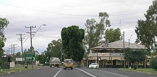 Boggabilla Town in New South Wales, Australia