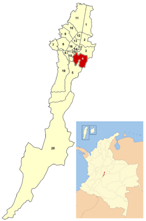 Location of the locality within Bogotá