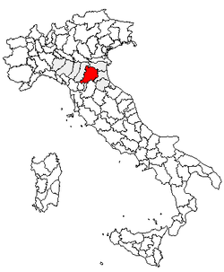 Location of Province of Bologna