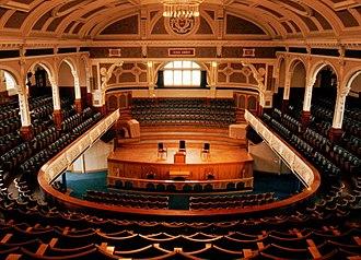 Bradshaw Gass & Hope - Image: Bolton Victoria Hall Interior