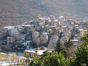 Veduta del borgo di Scanno