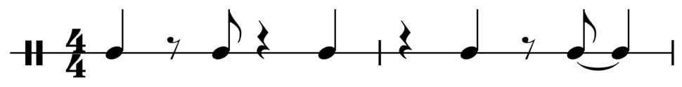 Bossa nova dance pattern
