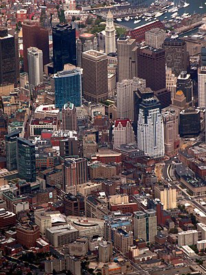 Demographics of New England - Image: Boston downtown aerial