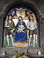 Bottega di giovanni della robbia, madonna in trono tra i ss. giovanni battista e sebastiano, 1524, 03.JPG