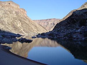 Fish River (Namibia) - Image: Bottom of Fish River Canyon