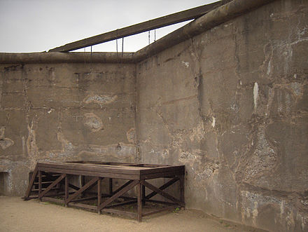 The gallows at Breendonk Concentration Camp, near Mechelen. Breendonk046.jpg