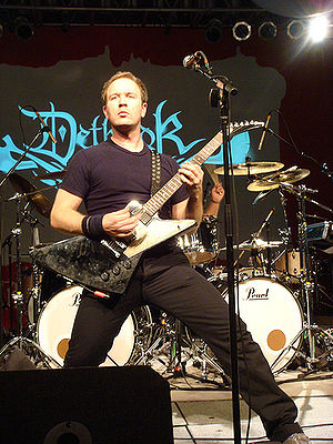 Brendon Small - Small performing live with Dethklok.