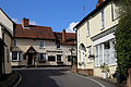 Bridge Road to Nags Head public house, Moreton village, Essex, England.jpg