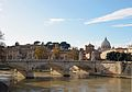 Bridge Vittorio Emanuele II and dome of San peter.jpg