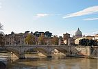 Bridge Vittorio Emanuele II and dome of San peter.jpg