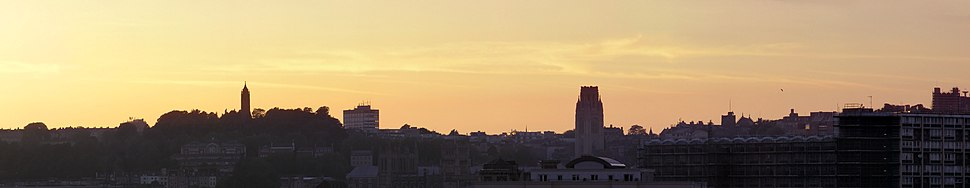 Bristol skyline sunset