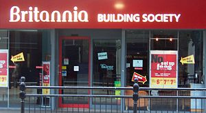Britannia Building Society - A branch of the former Britannia Building Society in Peterborough, Cambridgeshire.